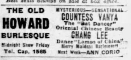 Ad for show Boston Globe 10 Jan 1936