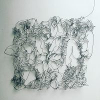 FEMININE FLORAL TAPESTRY #1, 28 GUAGE WIRE CONTINUOUS