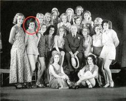 Flo Ziegfeld with Showgirls in 1931, Nanon Gardner Circled